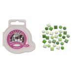 Queen and Company - Mini Square and Round Brads - 44 pieces - Go Green, CLEARANCE