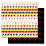 Queen and Company - Magic Collection - 12 x 12 Double Sided Paper - Magic Zig Zag