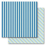 Queen and Company - Kids Collection - 12 x 12 Double Sided Paper - Boy Stripes