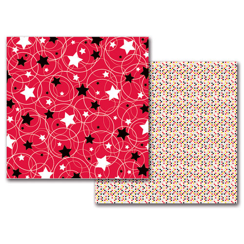 Queen and Company - Magic Collection - 12 x 12 Double Sided Paper - Magic Circle-Stars