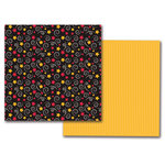 Queen and Company - Magic Collection - 12 x 12 Double Sided Paper - Magic Swirls and Stars