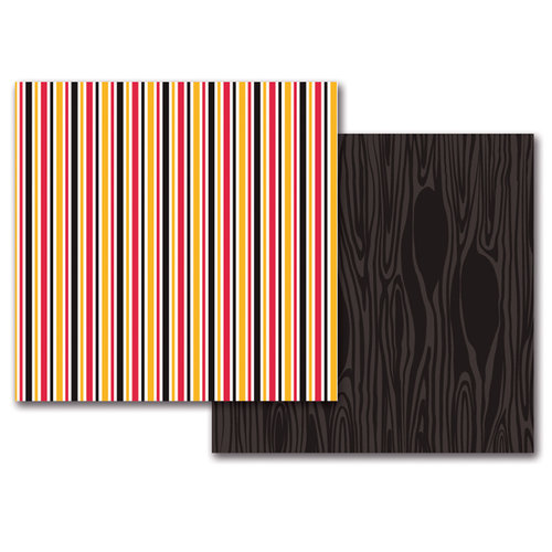 Queen and Company - Magic Collection - 12 x 12 Double Sided Paper - Magic Stripes