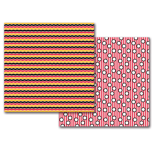 Queen and Company - Magic Collection - 12 x 12 Double Sided Paper - Magic Waves