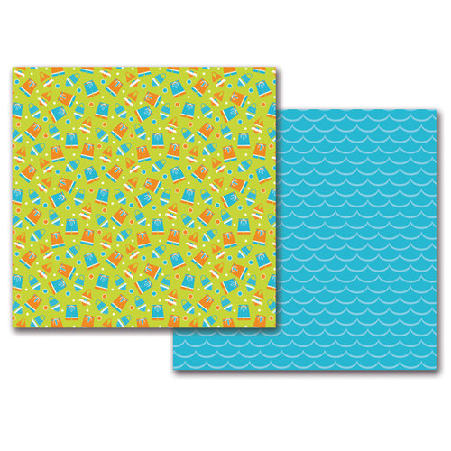 Queen and Company - 12 x 12 Double Sided Paper - Summer Pails