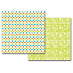 Queen and Company - 12 x 12 Double Sided Paper - Summer Circle Stars
