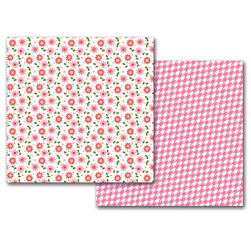 Queen and Company - 12 x 12 Double Sided Paper - Girl Flowers