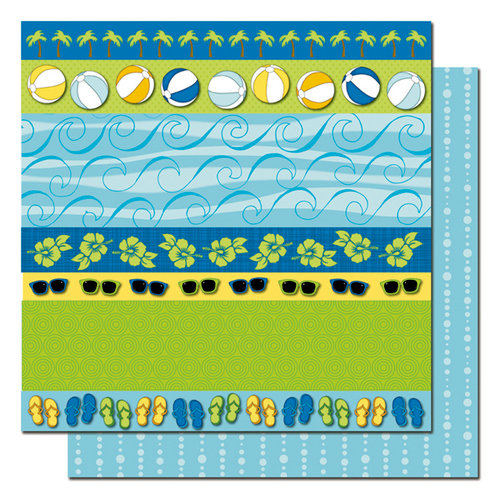 Queen and Company - Summer Fun Collection - 12 x 12 Double Sided Paper - Combo
