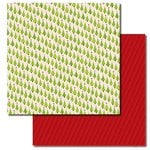 Queen and Company - Christmas Collection - 12 x 12 Double Sided Paper - Trees