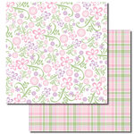 Queen and Company - Kids Collection - 12 x 12 Double Sided Paper - Girl Floral