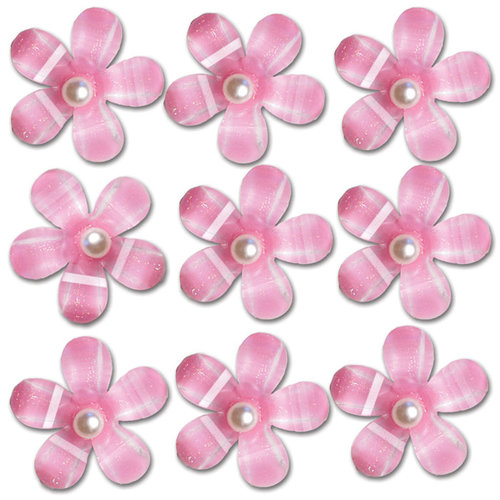 Queen and Company - Self Adhesive Pearl Blossoms - Pink