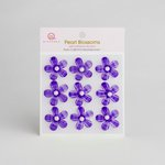 Queen and Company - Self Adhesive Pearl Blossoms - Purple