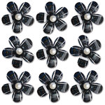 Queen and Company - Self Adhesive Pearl Blossoms - Black