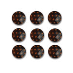 Queen and Company - Candy Shoppe Collection - Polkies - Self Adhesive Rhinestones - Orange Crush