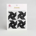 Queen and Company - Self Adhesive Paper Pinwheels - Licorice
