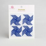 Queen and Company - Self Adhesive Paper Pinwheels - Blueberry Bliss