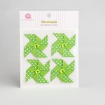 Queen and Company - Self Adhesive Paper Pinwheels - Kiwi Kiss