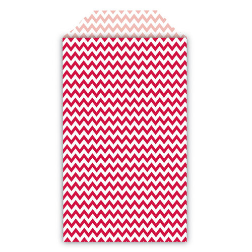 Queen and Company - Perfect Party Collection - Decorative Bags - Chevron - Cherry Bomb