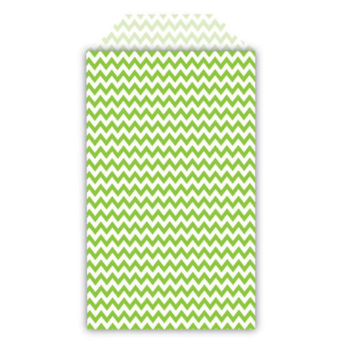 Queen and Company - Perfect Party Collection - Decorative Bags - Chevron - Kiwi Kiss