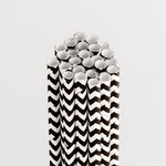 Queen and Company - Perfect Party Collection - Drinking Straws - Chevron - Licorice