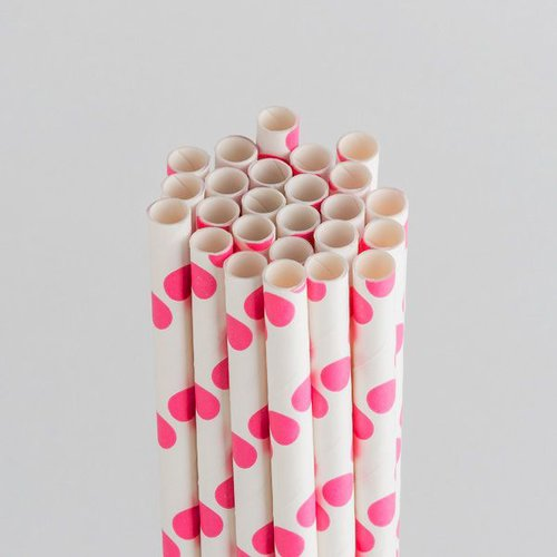 Queen and Company - Perfect Party Collection - Drinking Straws - Polka - Cotton Candy