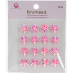Queen and Company - Bling - Self Adhesive Pinwheels - Pink
