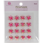 Queen and Company - Bling - Self Adhesive Pinwheels - Red