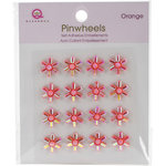 Queen and Company - Bling - Self Adhesive Pinwheels - Orange