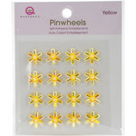 Queen and Company - Bling - Self Adhesive Pinwheels - Yellow