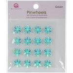Queen and Company - Bling - Self Adhesive Pinwheels - Green