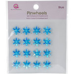 Queen and Company - Bling - Self Adhesive Pinwheels - Blue