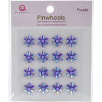 Queen and Company - Bling - Self Adhesive Pinwheels - Purple