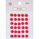 Queen and Company - Bling - Self Adhesive Rhinestones - Rivets - Red