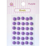 Queen and Company - Bling - Self Adhesive Rhinestones - Rivets - Purple