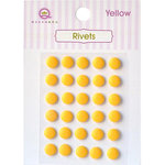 Queen and Company - Bling - Self Adhesive Rhinestones - Rivets - Yellow