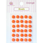 Queen and Company - Bling - Self Adhesive Rhinestones - Rivets - Orange