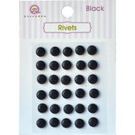 Queen and Company - Bling - Self Adhesive Rhinestones - Rivets - Black