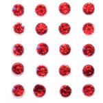 Queen and Company - Bling - Self Adhesive Stones - Berry Red