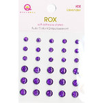 Queen and Company - Rox Collection - Bling - Self Adhesive Ice Stones - Lavender, CLEARANCE