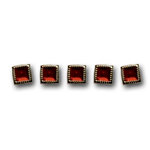 Queen and Company - Bling - Jewel Brads - Classy Red, CLEARANCE