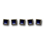 Queen and Company - Bling - Jewel Brads - Brilliant Blue, CLEARANCE