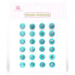 Queen and Company - Metallic Nailheads - Blue