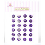 Queen and Company - Metallic Nailheads - Purple