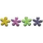 Queen and Company - Shaped Brads - Glitter Flowers, CLEARANCE