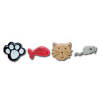 Queen and Company - Pets Collection - Brads - Cat, CLEARANCE