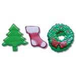 Queen and Company - Christmas Collection - Brads - Shapes