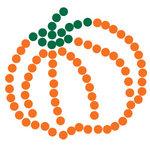 Queen and Company - Bling - Self Adhesive Rhinestones - Pumpkin