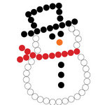 Queen and Company - Bling - Self Adhesive Rhinestones - Snowman