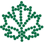 Queen and Company - Bling - Self Adhesive Rhinestones - Maple Leaf - Green