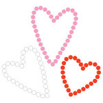 Queen and Company - Bling - Self Adhesive Rhinestones - Multi Hearts