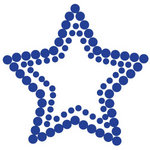 Queen and Company - Bling - Self Adhesive Rhinestones - Star - Blue